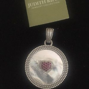 Judith Ripka mother of pearl Ruby large pendant